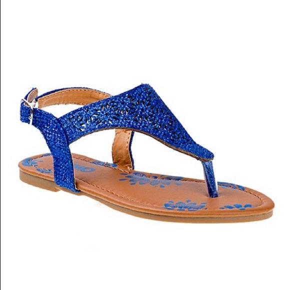 Josmo Blue Glitter Sandals